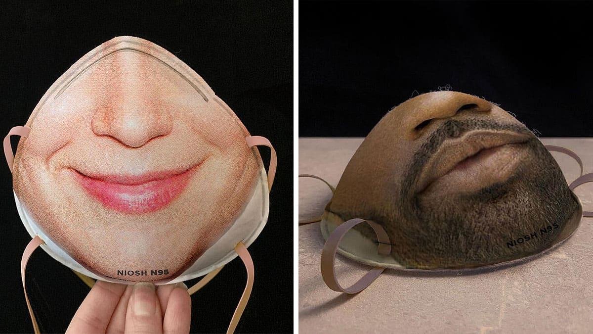 Mascherine protettive con la propria faccia