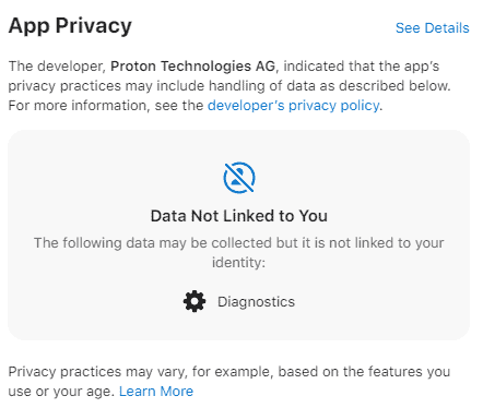 ProtonMail privacy labels